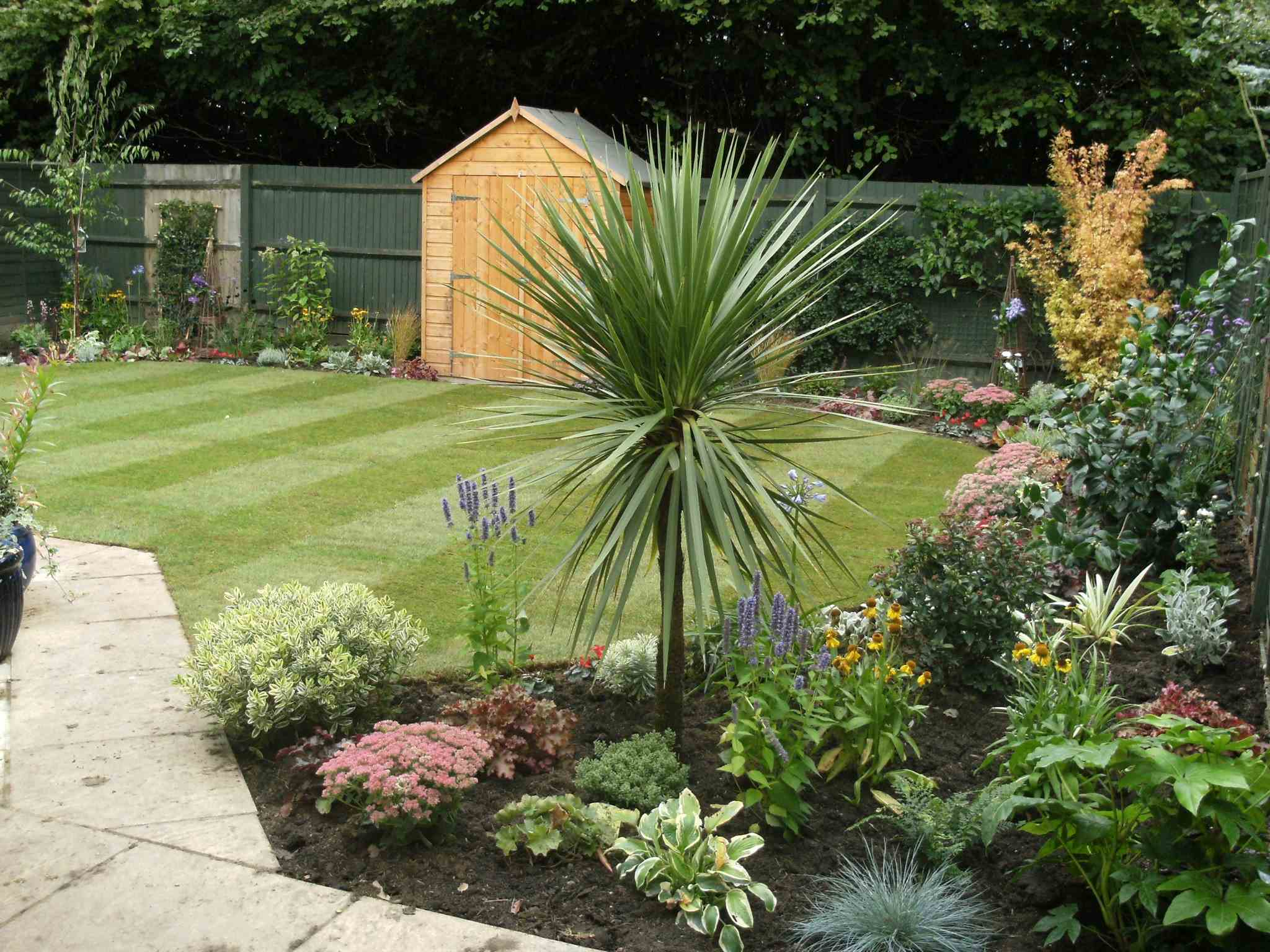 Garden Shed and Grass Landscaping