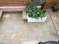 Garden Slab Patio with Plants
