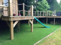 Garden Wood Decking Childrens playarea