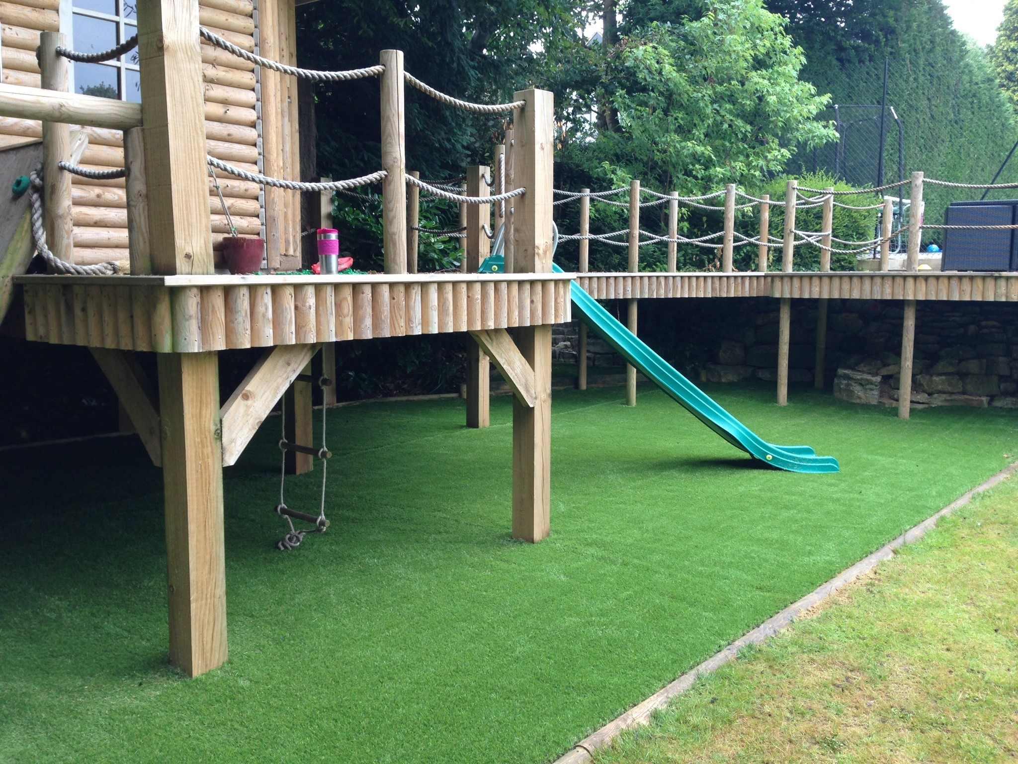Garden Wood Decking Childrens playarea