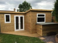 Wood Cabin and Decking